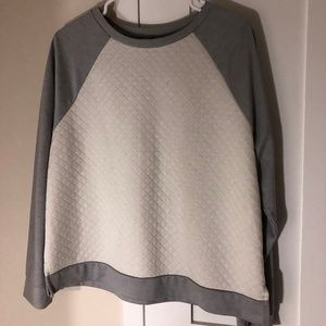Old Navy - Size Large, Grey/White Quilter Sweater